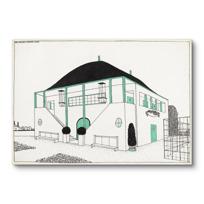 """Canvas Print """"Projet pour une cité moderne: pavillon des sports"""""""
