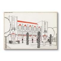 """Canvas Print """"Une cité moderne: hôtel de voyageurs"""""""
