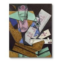 """Canvas Print """"Verre et journal"""""""