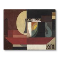 """Toile sur châssis """"Composition dada (Tête au plat) Autre titre: Fresco aus dem Zürcher Dada Pantheon"""""""