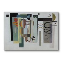 "Canvas Print ""Deux points verts"""