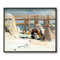 "Framed Canvas ""L'Estacade à Sainte-Adresse"""
