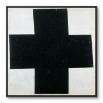 """Framed Canvas """"Croix  [noire]"""""""