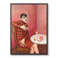 """Framed Canvas """"Bildnis der Journalistin Sylvia von Harden"""""""