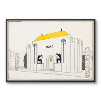 """Framed Canvas """"Une cité moderne: musée"""""""