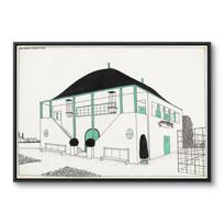 """Framed Canvas """"Projet pour une cité moderne: pavillon des sports"""""""