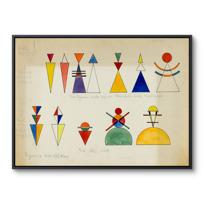 "Framed Canvas ""Figurines pour tableau 16"""