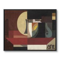 """Toile Encadrée """"Composition dada (Tête au plat) Autre titre: Fresco aus dem Zürcher Dada Pantheon"""""""