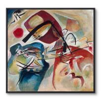 """Framed Canvas """"Mit dem schwarzen Bogen (Avec l'arc noir)"""""""