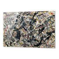 "Metal Print ""Painting (Silver over Black, White, Yellow and Red)"""