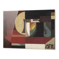 """Impression Aluminium """"Composition dada (Tête au plat) Autre titre: Fresco aus dem Zürcher Dada Pantheon"""""""