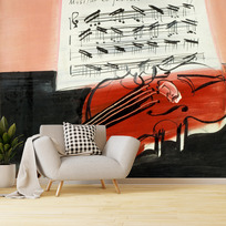 "Removable wallpaper ""Le Violon rouge"""