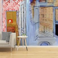 """Removable wallpaper """"L'Atelier de l'impasse Guelma"""""""