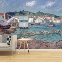 "Removable wallpaper ""Port de Martigues"""