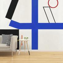 """Removable wallpaper """"Quatre espaces à croix brisée"""""""
