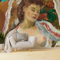 """Removable wallpaper """"Femme aux seins nus assise"""""""