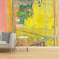"""Papier peint adhésif """"L'Atelier au mimosa"""""""
