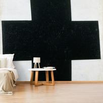 """Papier peint adhésif """"Croix  [noire]"""""""