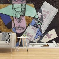 "Removable wallpaper ""Verre et journal"""