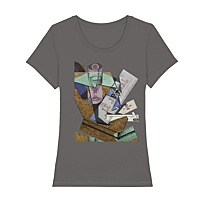 "Women's T-Shirt ""Verre et journal"""