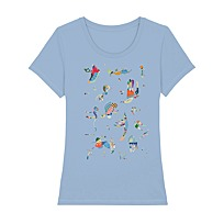 "T-Shirt Femme ""Bleu de ciel"""