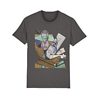 "Men's T-Shirt ""Verre et journal"""