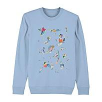 """Sweatshirt """"Bleu de ciel"""""""